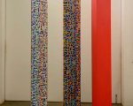 Prismatic Column #3 - acrylic on wood – 220 x 30 x  30 cm each