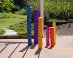 Totems.2 - acrylic, wood – varying size & dia