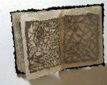 Book .4 - rope, jute, ash, acrylic, butter paper -  35 x 25 cm