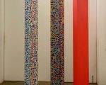 Prismatic Column #3 - acrylic on wood – 220 x 30 x  30 cm each