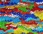 Untitled - acrylic on mesh  - 90 x 120 cm