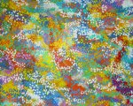 Untitled (detail) - Acrylic on canvas, twigs – 140 x 220 cm